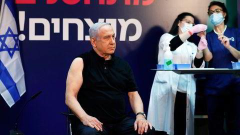 Israels statsminister Benjamin Netanyahu fikk koronavaksinen 19. desember.