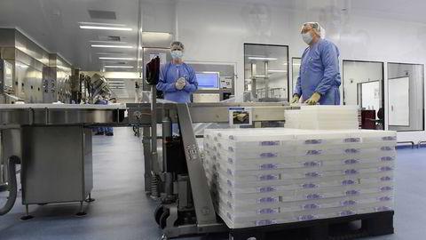 Pfizers vaksinefabrikk i Puurs, Belgia. EU vil ha flere vaksinefabrikker, det samme ønsker norske politikere.