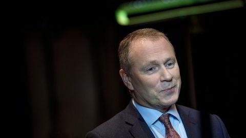 Korona til tross. Oljefondssjef Nicolai Tangen presenterte torsdag fondets nest beste år målt i kroner. Her fra en tidligere anledning.