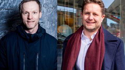 Investorene Ketil Skorstad og Kristian Lundkvist grunnla Arcane Crypto i 2018. Mandag fikk de sammen med Morten Klein en samlet på papirgevinst på 180 millioner kroner etter at Arcane-aksjen hoppet opp 20 prosent børsen på stigende bitcoinkurs.