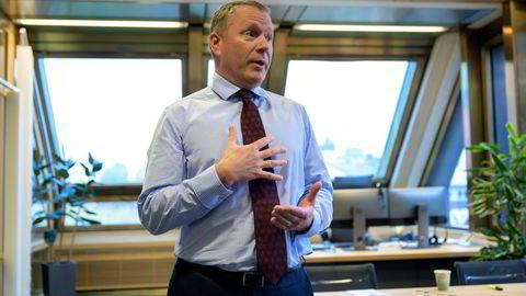 Oljefondssjef Nicolai Tangen gjennomførte onsdag fondets første infrastrukturkjøp innen fornybar energi. Foto: Fartein Rudjord