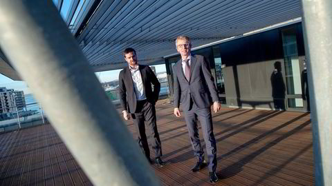 Lederne i advokatfirmaet Grette, partnerne Jacob Sverdrup Bjønness-Jacobsen (til høyre) og Marius Svendsvoll Langnes, har vært gjennom en stor omorganisering som ble fullført i korona. Det ga større inntekter per partner – men også Grette permitterte noen kontoransatte i korona.