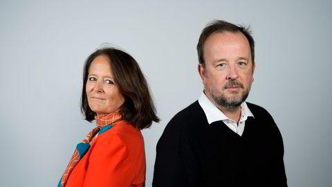 DNs Eva Grinde og Frithjof Jacobsen kommenterer politikk hver uke i podkasten Den politiske situasjonen.   Foto: Fartein Rudjord