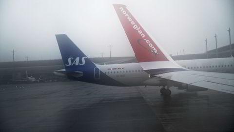 Fly på Oslo lufthavn.