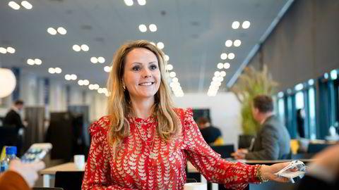 Digitaliseringsminister Linda Hofstad Helleland (H) refses av jurister og it-eksperter etter at hun inviterte til et møte på Clubhouse. Her fra Høyres landsmøte.