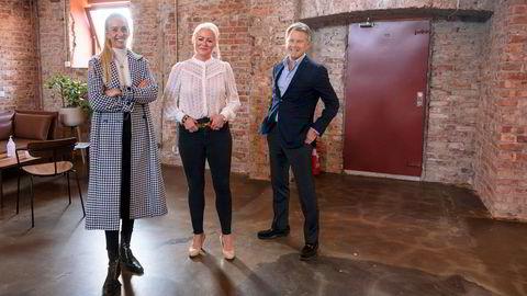 Eline Fjell fra Verdane (til venstre) går inn som styremedlem i Spond. Her er hun sammen med Spond-sjef Trine Falnes og Verdane-partner Christian Jebsen.