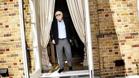 John Fredriksens gjeldstyngede Seadrill tapte 5,5 milliarder i første halvår. Her er Fredriksen avbildet hjemme i London.
