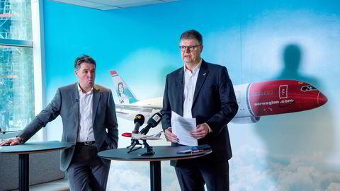 Jacob Schram (til høyre) og Geir Karlsen fikk 11 millioner kroner hver i bonus.