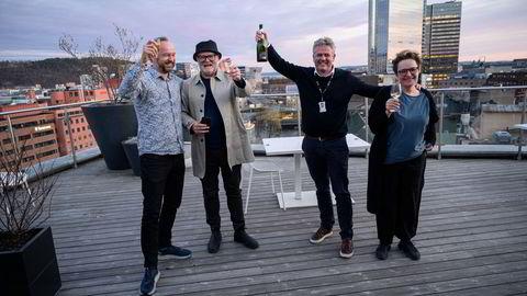 Dokumentarleder Frode Frøyland (fra venstre), journalist Lars Backe Madsen, journalist Morten Ånestad og metode- og etikkredaktør Gry Egenes i DN.