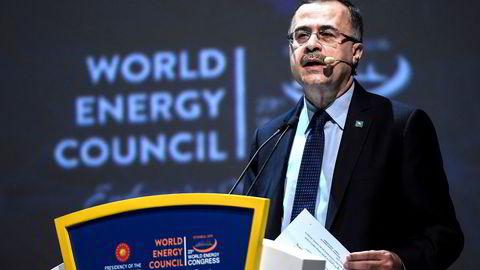 Toppsjef Amin al-Nasser i det saudiarabiske oljeselskapet Saudi Aramco. Selskapet utpresses for 441 millioner kroner etter en alvorlig datalekkasje.