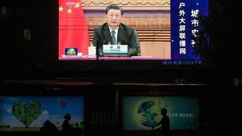 Kinas president Xi Jinping har avvist et forslag fra USAs president Joe Biden om å møtes til et toppmøte. Her fra det digitale BRICS-toppmøtet med India som vertskap tidligere i september.