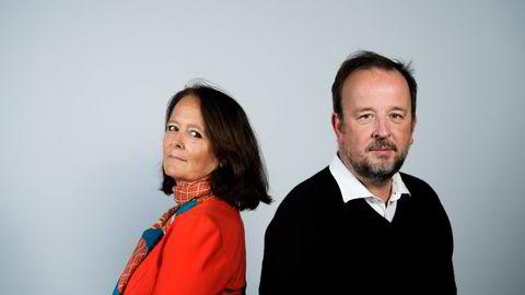 Eva Grinde, Kommentator, og Frithjof Jacobsen, politisk redaktør leder DNs podkast Den Politiske Situasjonen.