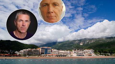 Odd Harald Hauge (innfelt t.v.) ønsket i samarbeid med Per Graff (innfelt) å utvikle et klubbkonsept på en strandtomt ved siden av Montenegros eneste femstjerners hotell, Splendid Hotel, i kystbyen Budva i Montenegro. Lønnsomheten skulle bli «vanvittig», ifølge Hauge. Nå har Hauge sammen med sine medaksjonærer saksøkt Graff i forbindelse med salg av et tomteselskap.