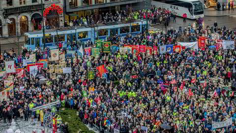 LO, Unio og YS gjennomførte en politisk streik i protest mot regjeringens forslag til endringer i Arbeidsmiljøloven i 2015.