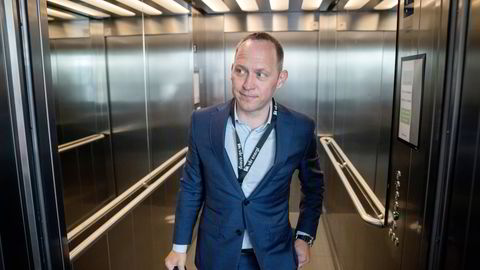 På plass: Påtroppende sjef i Vår Energi, Torger Rød. Her i heisen på selskapets hovedkontor på Forus utenfor Stavanger.