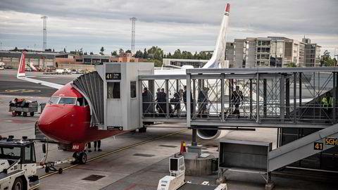 Et Norwegian-fly på flyplassen i Malaga, avbildet i en annen anledning i 2018. Dette blir en av Norwegians to gjenværende baser i Spania etter koronakrisen.