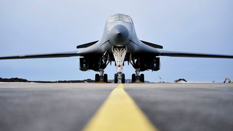 Fire amerikanske B-1B «Lancer» bombefly var nylig utplassert på Ørland hovedflystasjon i én måned.