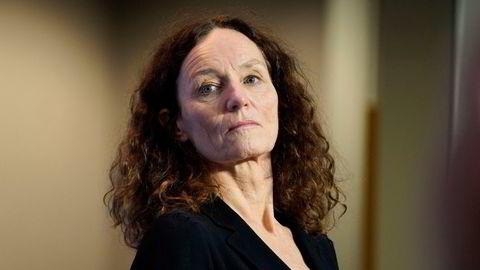 Direktør i Folkehelseinstituttet, Camilla Stoltenberg informerte torsdag om AstraZeneca-vaksinen Foto: Torstein Bøe / NTB . .