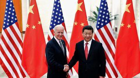 President Xi Jinping og Joe Biden sammen i 2013, da Biden var visepresident.