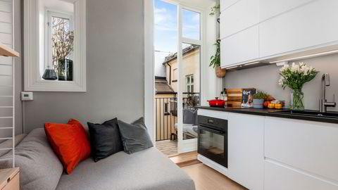 Vika-leiligheten på elleve kvadratmeter ble solgt for 2,6 millioner kroner.