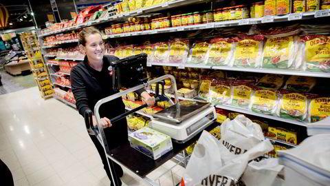 Nordmenns appetitt på dagligvarer falt fra juli til august.