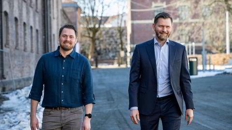 Erik Bakstad (venstre) var med å starte Ardoq i 2013. Nå tar han over som toppsjef i oppstartsselskapet som går over i vekstfasen. Haakon Jensen fra BOS Kapital er ny styreleder.