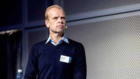 Yara-sjef  Svein Tore Holsether på Pareto-konferansen.