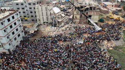 Rana Plaza-tragedien i Bangladesh i 2013. Tusenvis ble drept eller skadet.