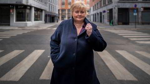 Statsminister Erna Solberg gikk på byen og tok seg et glass med gode kolleger og gamle kjente da Oslos uteliv åpnet dørene igjen.