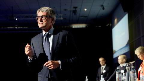 Aker-sjef Øyvind Eriksen er bekymret for at økende pris på utslipp skal bremse det grønne skiftet.