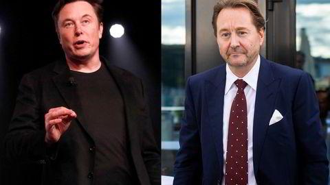 Elon Musk (f.v.) og Kjell Inge Røkke er milliardærkollegaer og bitcoin-investorer, men nå har en av dem mistet troen på teknologien som grønt lokomotiv.