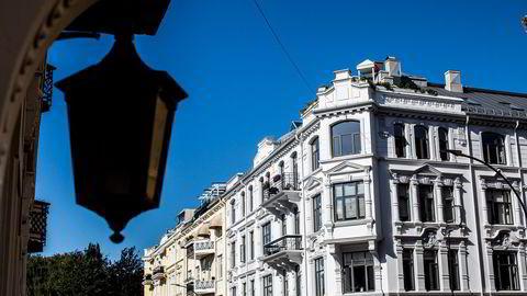 Torsdag la Eiendom Norge frem bruktboligrapporten for mai. Foto av leiligheter på Frogner i Oslo.