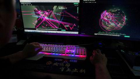 USA mener nordkoreanske hackere står bak en rekke hackerangrep mot finansinstitusjoner, kryptovalutabørser, offentlige etater og storselskaper. Her fra Red Hacker Alliance, som overvåker globale hackerangrep fra Dongguan i Kina.