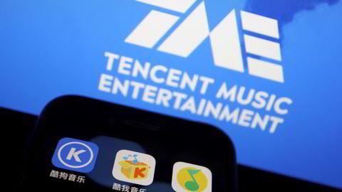 Det kinesiske medieselskapet Tencent Music Entertainment Group opplevde at børsverdien falt med over en tredjedel i forrige uke etter aksjene tilhørende et hedgefond ble tvangssalgt. Det ventes ny uro ved børsene.
