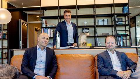 Fra venstre: Simen Elvestad og Morten Borge i Ferd, og Morten Henriksen Arendals Fossekompani.