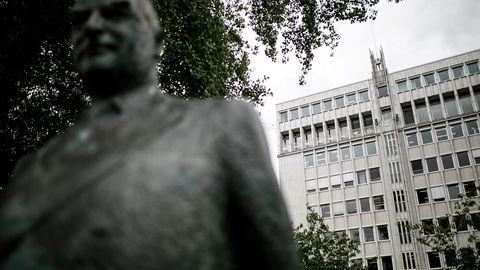Edvin Austbø har kontorer i Olav Vs gate 5 (bildet), midt i mellom Aker Brygge og Rådhuset i Oslo.