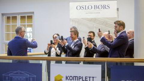 Komplett Bank ble notert på Oslo Børs i november 2017.