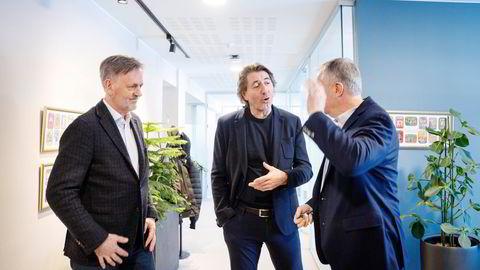 Oljeveteranene  Hans Olav Hide (til venstre), Walter Sognnes og Tore Halvorsen får 115 millioner kroner til leting etter mineraler på havbunnen.