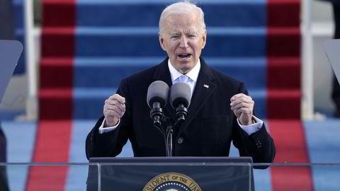 USAs president Joe Biden (bildet) er litt mer sivilisert enn forgjengeren, men vi er langt fra ferdige med handelskrig mellom stormaktene, mener Norsk Industri-direktør Knut E. Sunde.
