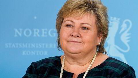 Cool Cat: Det kan hende Erna Solberg er kneppet for tilfreds og avslappet etter 7,5 år ved makten.