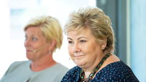 Var det statsminister Erna Solberg (H) og Siv Jensen (Frp) som fant veien frem til en felles enighet om pensjon i helgen?