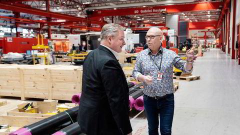 Inge Brigt Aarbakke og Trond Jacobsen er på offensiven. Nå kjøper de fabrikklokalene tilbake fra entreprenøren Olav Stangeland.