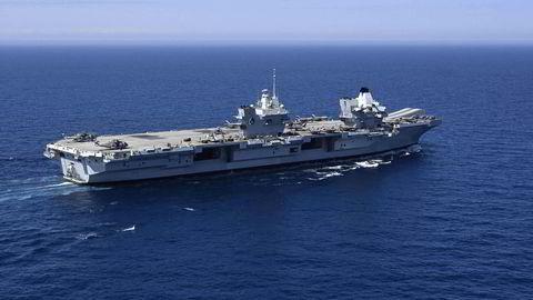 Britenes stolthet, hangarskipet HMS «Queen Elizabeth», har startet på en seilas som går helt til Sør-Kina-havet.
