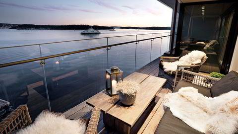 Grei utsikt over innseilingen til Oslo.