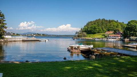 Sjøhyttemarkedet har opplevd en omsetningsvekst på 29 prosent første halvår sammenlignet med samme periode i fjor. Illustrasjonsfoto fra hytteøya Bjerkøya i Asker kommune.