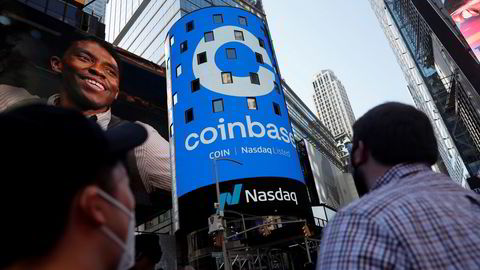 Coinbase debuterte med et brak på Wall Street onsdag.