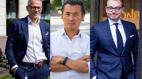 Sjefstrateg Christian Lie i Formuesforvaltning, Olav Chen, leder for allokering og globale renter i Storebrand og DNB Markets-sjef Alexander Opstad.