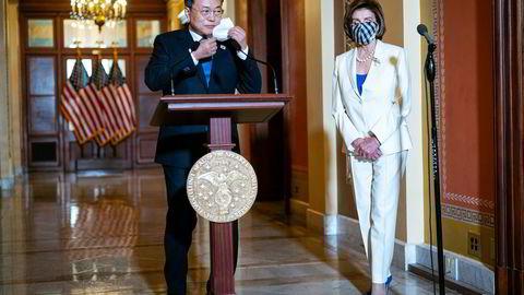 Sør-Koreas Moon Jae-in møtte lederen for Representantenes hus på torsdag. På fredag møter han president Joe Biden. Sørkoreanske selskaper har eksportert seg ut av pandemien. Nå investerer de friskt i USA.