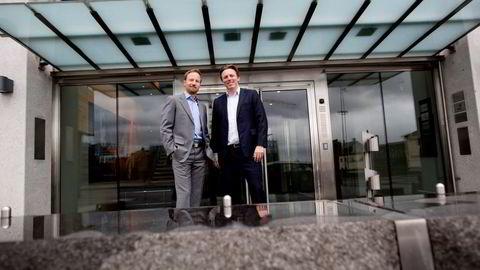 I løpet av få år har nordmennene Anders Misund (til venstre) og Christian Sinding blitt mangemilliardærer gjennom sitt partnerskap i EQT.