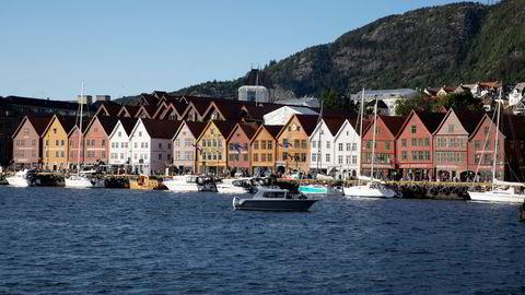 Bergen var regionen med den sterkeste nominelle boligprisveksten i juli.